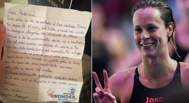 «Grazie a te ho battuto il cancro»: Federica Pellegrini pubblica la lettera del fan