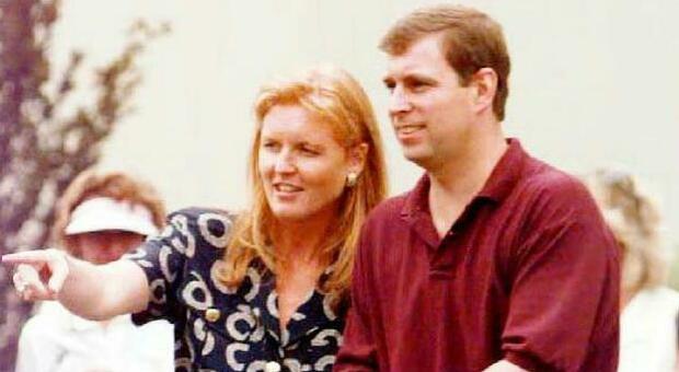 Sarah con l'ex marito Andrea