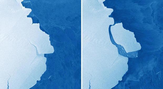 Un gigantesco iceberg si è staccato dall'Antartide: è più grande di Sidney