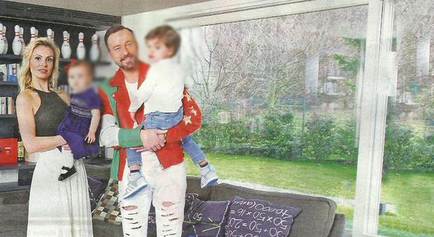 Francesco facchinetti con la moglie wilma e i figli ecco for Come progettare la mia casa