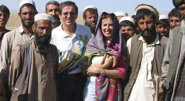 Monica Sandri a un raduno di capivillaggio in Afghanistan