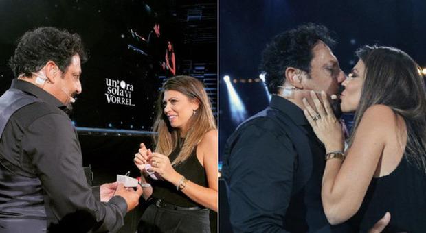 Enrico Brignano e Flora Canto, la proposta di nozze all'Arena di Verona tra risate e commozione