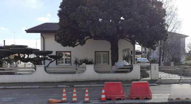 La villa in via Piave dove è stata effettuata la rapina