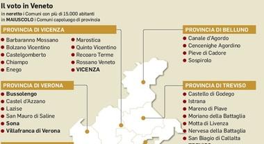 Cartina Veneto Comuni.Il Voto In Veneto I Comuni Coinvolti E Le Sfide Mappa