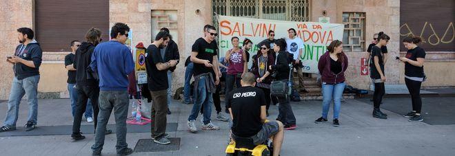 Salvini a padova per bitonci attivisti del pedro sul for Pedro padova