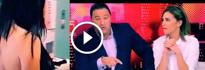 La diretta tv imbarazzante compare una donna nuda il for Diretta tv camera deputati