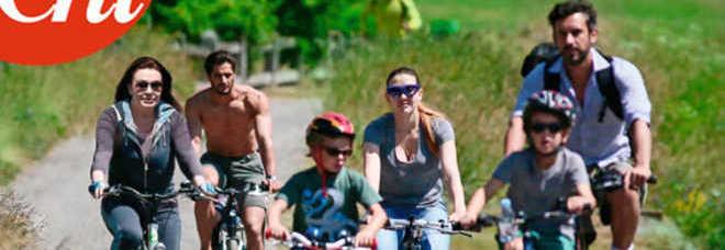 Veronica lario vacanze in famiglia a st moritz pedalate for Vacanze in famiglia