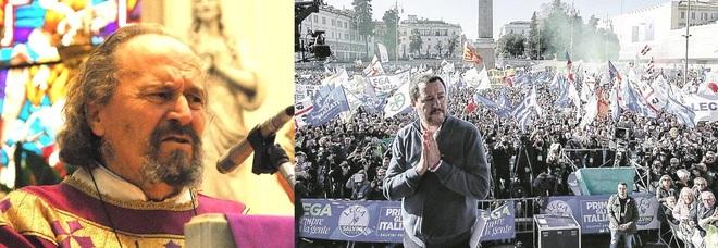 Don Claudio Miglioranza e Matteo Salvini