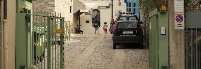L'ingresso del carcere di Pordenone