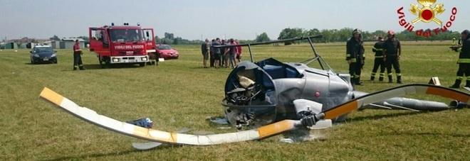 Elicottero Ultraleggero Biposto Prezzo : Elicottero si schianta all atterraggio pilota trovato in