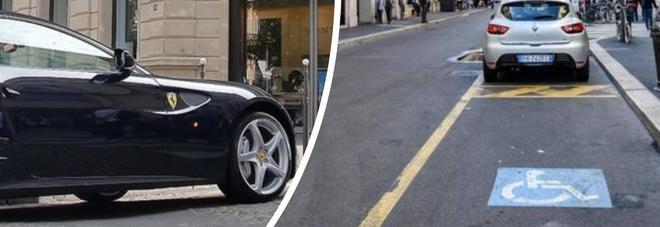 Ferrari nel posto disabili, chiede di spostarla e viene aggredito davanti al figlio: