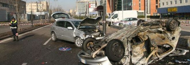 Le auto coinvolte nell'incidente di Mestre (Photo Journalist)  ©