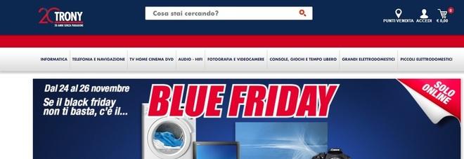 Black Friday 2017, Trony propone il \'Blue Friday\': sconti, offerte e ...