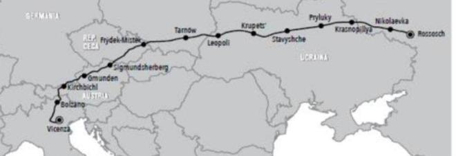Le tappe della marcia di 2.700 chilometri