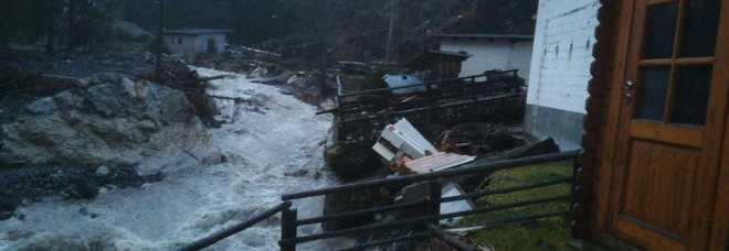 Rocca Pietore devastata dall'uragano del 29 ottobre scorso