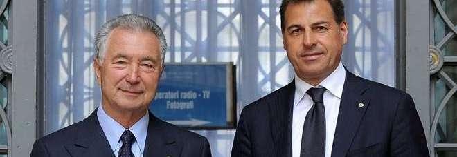 Il presidente Gianni Zonin e l'ex ad Samuele Sorato