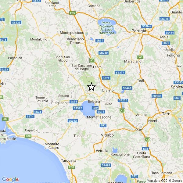 Terremoto, paura tra Toscana, Umbria e Lazio