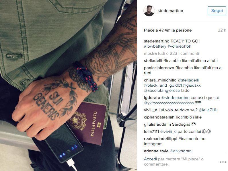 Clamoroso Stefano De Martino su Instagram