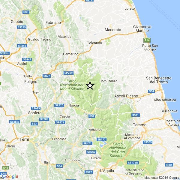 Italia, scossa di magnitudo 3,4 nell'Ascolano