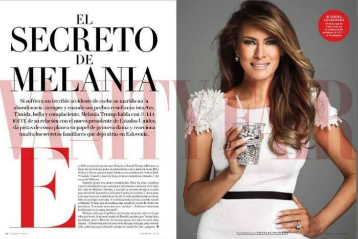 Vanity Fair Messico intervista Melania