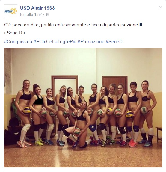 Squadra femminile di Basket conquista la promozione e… si spogliano!