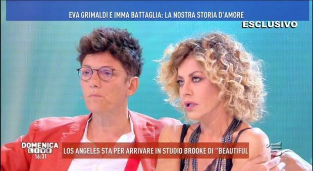 Domenica Live, Eva Grimaldi: