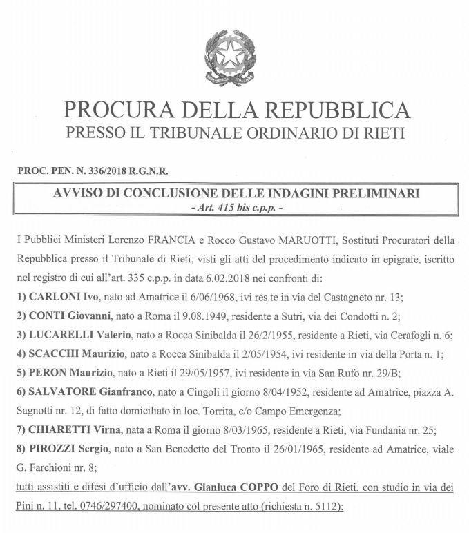 Amatrice: Sergio Pirozzi indagato per crollo palazzina