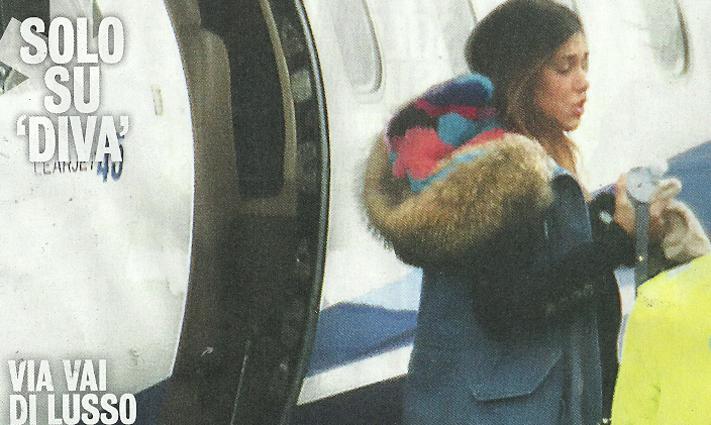 Aereo Privato Iannone : Belen e andrea iannone pendolari di lusso con l aereo