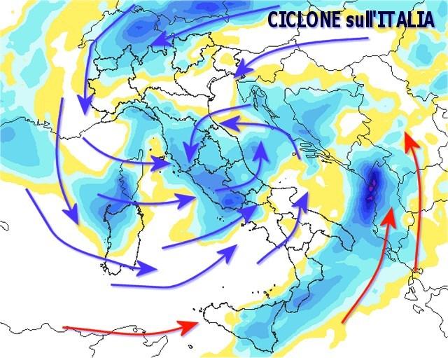 Maltempo: temporali in arrivo sulla Calabria