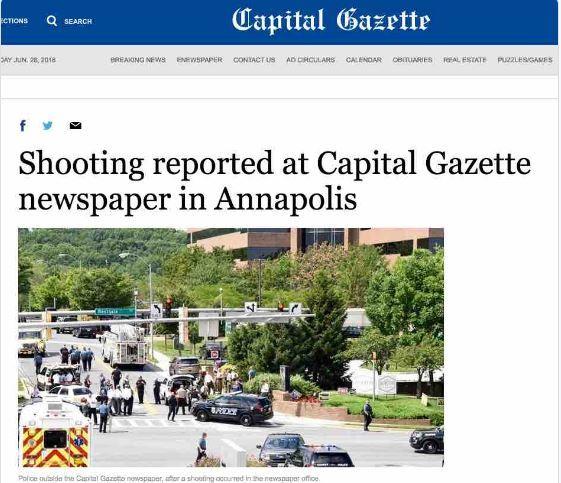 Usa, sparatoria in un giornale: ci sarebbero morti, arrestato l'aggressore