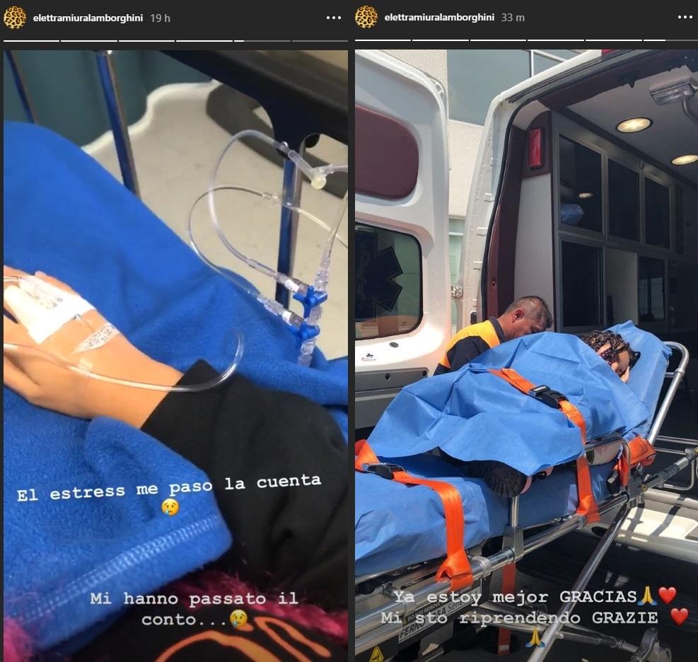 Elettra Lamborghini esce dall'ospedale: