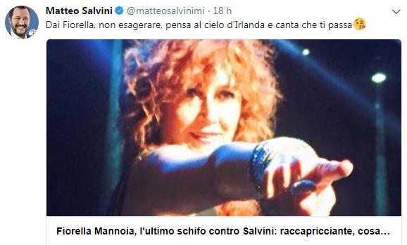 Daisy, Fiorella Mannoia contro Salvini. Lui: