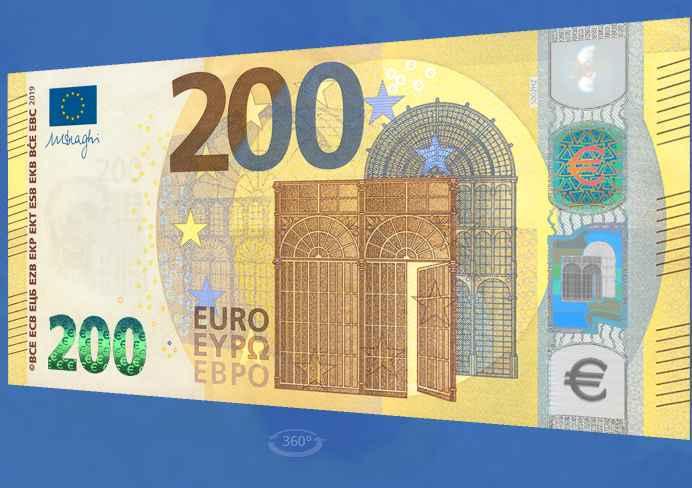 44b22bc1dc Dopo i biglietti da 5, 10, 20 e 50 euro, quelli da 100 e 200 euro sono gli  ultimi due tagli della serie Europa, che viene così completata.
