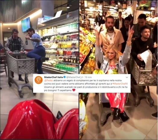 Fedez-Ferragni: compleanno con polemica al supermercato